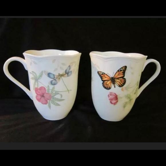 Lenox Butterfly Meadow Monarch & Dragonfly Mugs